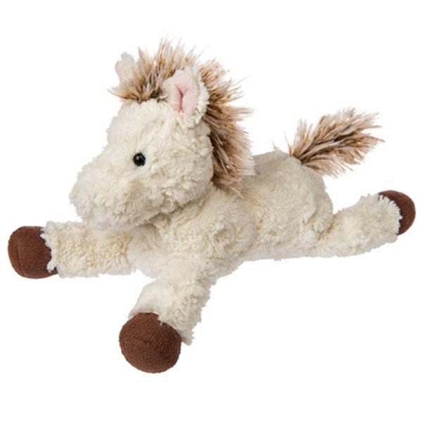 White stuffed farm animal horse toys