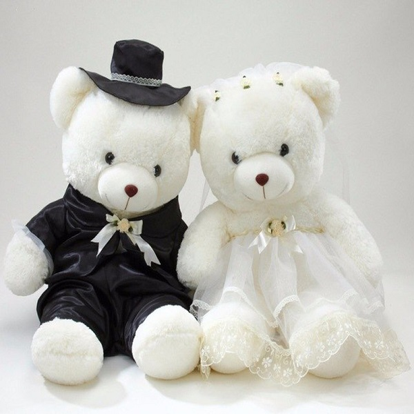 Creative personalized plush wedding gift bear toys