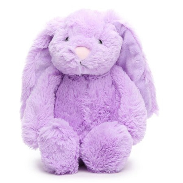 Custom purple floppy easter bunny rabbit plush toys supplier