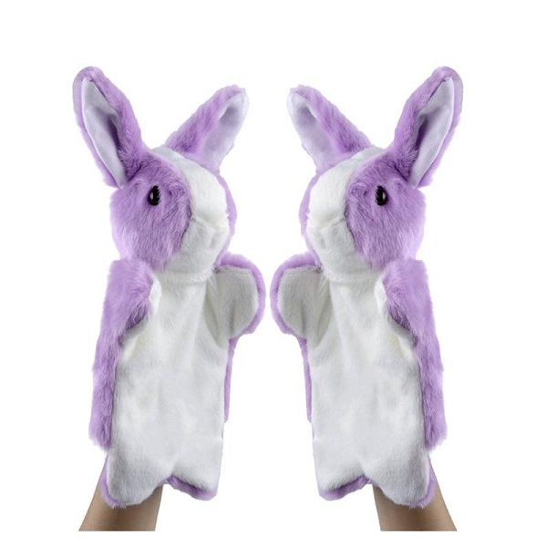 Wholesale custom plush soft toy bunny puppet personalized stuffed Easter rabbit hand puppet toys