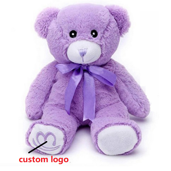China custom branded Purple plush teddy bear personalized toys